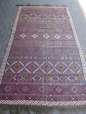 Antique turkish Rug Wool Kilim Rare Hand Made 275x153-cm / 108.2x60.2-inches