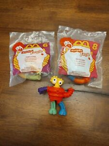 McDonald's Happy Meal Nickelodeon TANGLE Twist-A-Zoid, Lot of 3, 1996