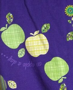 Small Purple SB Scrub Top Green And Yellow Apple's
