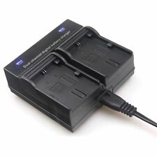 Dual Channel Battery Charger For Canon LP-E6 70D 60D 7D 6D 5Ds 5D Mark II/III