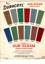 Sun Gleam Duracryl Acrylic Finish Custom Styling Color Paint Chips Ditzler 12Pc