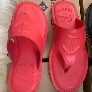 Sperry Women's Slippers Sandals Seaport Thong Flat Slides Flip Flops Memory foam