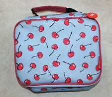 Cheeky Kids Cherry Design Insulated Blue Lunch Bag Tote