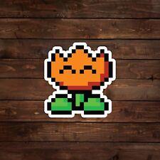 8-Bit Fire Flower (Super Mario) Decal/Sticker