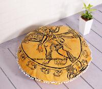 Indien Lord Shiva Sol Oreillers Rond Bohème Coussin Oreillers Housse Énorme Étui