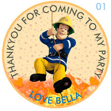 Personalizzato Firman sam Rotondo 50mm x15 Adesivi Festa Ringraziamenti Sigilli