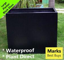 Large Black Divide Indoor Outdoor Planter Home Garden Office Pot Box Lightweight