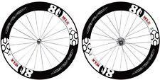 GCW06 Gray 80/80 High Modulus Carbon Clincher Road Bike Wheel Set 11S