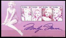St. Kitts 2007 Marilyn Monroe Kino Film Musik Sängerin Schauspielerin 946-49 MNH