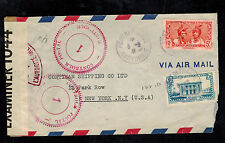 1941 Martinique Censored cover to USA Specilties Pharmaceutical
