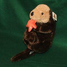NEW Sea Otter & Starfish Plush Stuffed Animal Unipak Designs 14 Inches