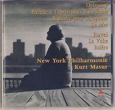 Debussy: La Mer, Ravel: La Valse, Bolero by Kurt Masur, NY PO  (Teldec) Like New
