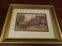 Framed Picture by Decorette Marketing Made in England Fox Hunt 11.75 X 9.75