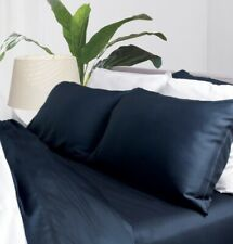 Cariloha bamboo Queen Sheet Set, Midnight Blue, NEW, Fast Shipping
