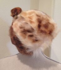Genuine FUR HAT Racoon Fox Legal Feline Mink Rare Beautiful Warm Winter