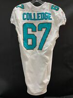 #67 DARYN COLLEDGE MIAMI DOLPHINS GAME USED WHITE NIKE JERSEY BOISE STATE