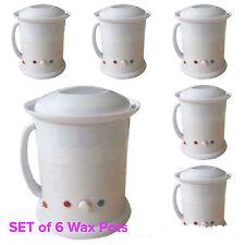 6 X 1 Litre Wax Heater Pot Warmer Salon Spa Wax Hair Removal Pots BULK BUY SAVE$