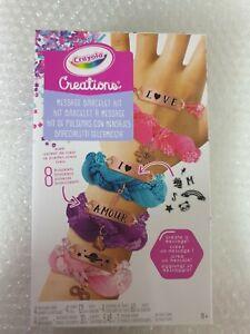 NEW Crayola Creations Message Bracelet Kit BNIB