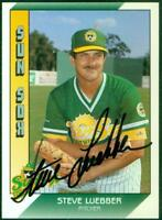 Original Autograph of Steve Luebber of the Sun Sox on a 1991 Pacific Trading