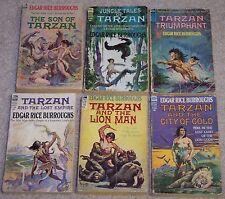 "LOT OF 6 TARZAN matching 1960s ACE ""shorts"" F series EDGAR RICE BURROUGHS Son of"