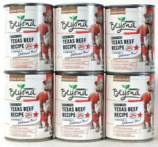 6 Cans Purina 13 Oz Beyond Grain Free Texas Deboned Beef Recipe Ground Entree