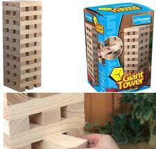 GIANT HARDWOOD WOODEN BLOCKS STACKING TUMBLE TOWER JENGA FAMILY KID GAME GA001