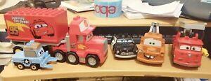 Lego Duplo Disney Pixar Cars SET OF 5 MACK SHERIFF MATER GUIDO RED FIRE TRUCK