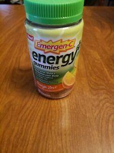Emergen-C Energy Plus + Gummies Orange Zest Natural Caffeine Green Tea Exp 8/20