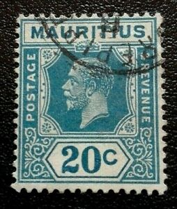Mauritius :1926 -1934 King George V 20 C. Rare & Collectible Stamp.