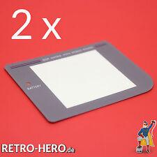 2 Nintendo Game Boy Classic Grau Display / Front Scheibe Ersatz / Austausch Repl