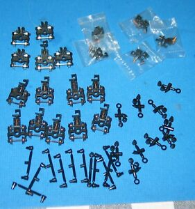 14 N Scale Replacement Trucks Spring-Loaded TOGGLE Couplers Hardware NICE