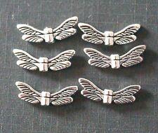 50 Tibetan Silver Dragonfly Spacer Beads TSC42