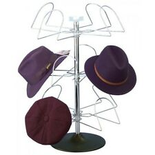 Men's Hat Counter Display Table Model in Black Chrome Hat Rack Wire Display