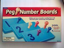 Lakeshore Peg Numbers Board preschool kinder counting learning teaching