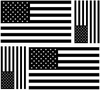 4x sticker aufkleber auto weiß schwarz usa flagge vereinigte staaten amerika