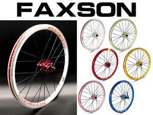 "Faxson Colorful Birdy Disc 20"" 406 Wheelset"