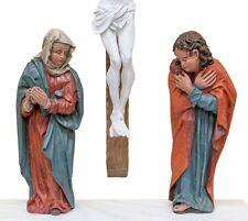 0665-0666- Assistenzfiguren einer Kreuzigung, barock (ohne Kruzifixus)