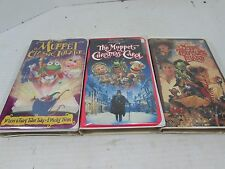VHS Lot of 3 The Muppets Christmas Carol 1993 Muppet Classic Theater 1994 Island