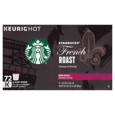 Starbucks Coffee French Roast Dark Roast 72 K-Cup Pods KEURIG HOT (1652)