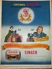 '50 VECCHIA PUBBLICITA' ADVERT - SINGER MACCHINE DA CUCIRE
