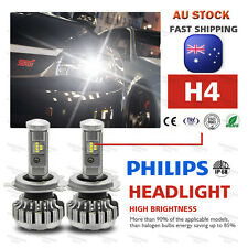 Set H4 LED Lamp 520W 58000LM Headlight kit Bulb Globes Hi-Lo Beam Upgrade