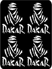 4 X White Paris Dakar Rally Stickers,Graphics,Decals Colour Choice
