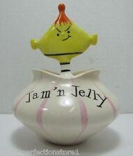 Vtg 1950s Holt Howard Pixie Jam 'n Jelly Condiment Jar w Mustard Spoon Topper