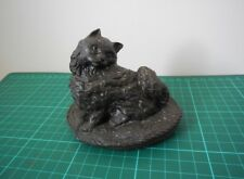 A resin model of a cat marked J Pecorini Rare Collectable