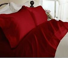RED QUALITY * 4pc QUEEN Bed SHEET SET * 100% NON ALLERGENIC Brand New !!