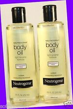 2 Neutrogena Body Oil Light Sesame Formula FRAGRANCE-FREE Sheer Moistruizing