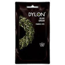 OLIVE GREEN DYLON HAND WASH FABRIC CLOTHES DYE 50g TEXTILE PERMANENT COLOUR