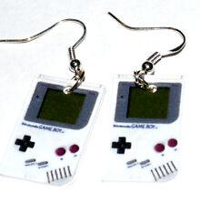 Nintendo Game Boy Video Gamer Geek Nerd Charm Earrings HANDMADE PLASTIC CHARMS
