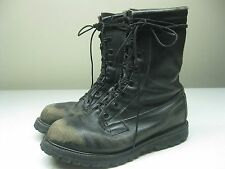 VINTAGE BLACK DISTRESSED MILITARY COMAT ARMY BOOTS SIZE 9.5R
