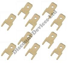 10x 4.8mm Uninsulated Crimp Spade PCB Male terminal/Faston Connector